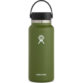 Hydro Flask Wide Mouth Bidón con Tapa Flex 946ml, Oliva